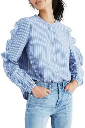 Madewell Stripe Frill Sleeve Shirt