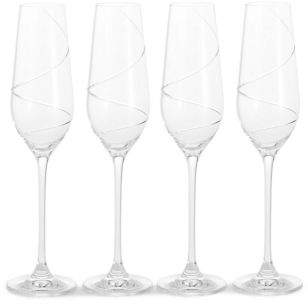 Marks and Spencer Swirl 4 Pack Champagne Flutes