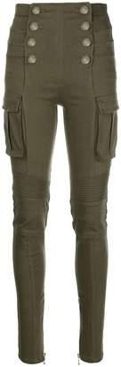 Balmain high-waisted buttoned trousers