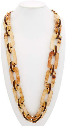 Lafayette 148 New York Long Square Link Necklace