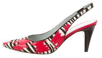 Marc Jacobs Marc Jacobs Snakeskin-Trimmed Ponyhair Pumps w/ Tags