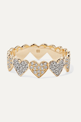 Sydney Evan Eternity Heart 14-karat Yellow And White Gold Diamond Ring