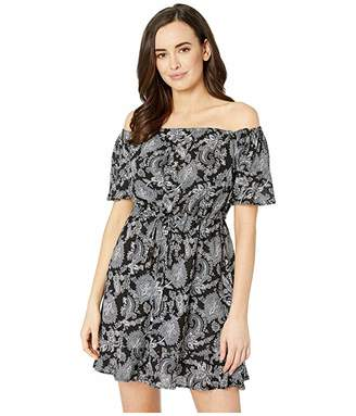 59c8d4fe9f MICHAEL Michael Kors Sweetheart Paisley Cold Shoulder Ruffle Cover-Up