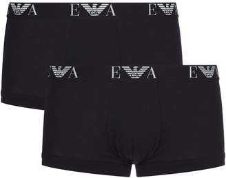 Emporio Armani Stretch Cotton Trunks (Pack of 2)