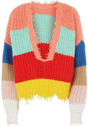 Wildfox Couture Palmetto Deep V-Neck Sweater