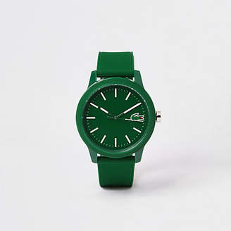 River Island Lacoste green 12.12 silicone strap watch