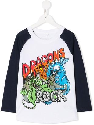 Stella McCartney dragons rock print T-shirt