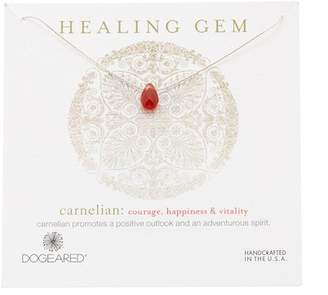 Dogeared Sterling Silver Healing Gem Carnelian Pendant Necklace