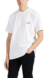 Carhartt Work in Progress Men's Embroidered Logo Cotton T-Shirt - White