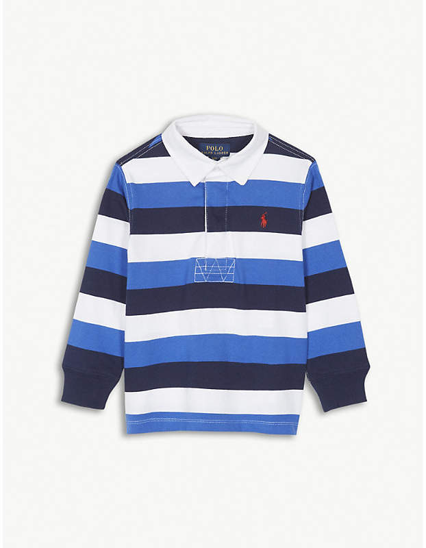 Striped cotton rugby top 2-4 years
