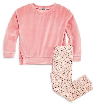 Splendid Girls' Velour Sweatshirt & Speckled Leggings Set - Little Kid