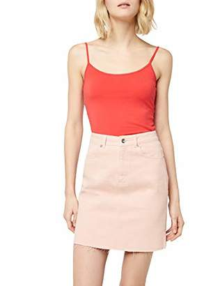 Only Women's Onllive Love New Strap Singlet NOOS Tank Top, Pink Poinsettia, (Size: )