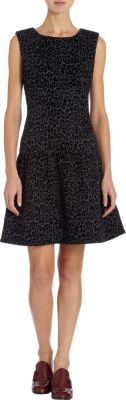 Thakoon Flared Cheetah Dress