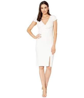 Adrianna Papell Riviera Sheath Dress with Draped Neckline and Seaming