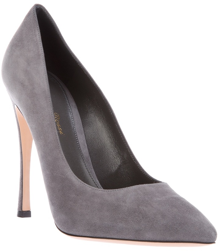 Gianvito Rossi suede pointed toe pump
