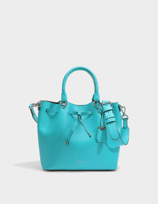 MICHAEL Michael Kors Blakely Medium Bucket Bag in Tile Blue Viola Leather