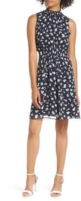 19 Cooper Ruffle Mock Neck Dress