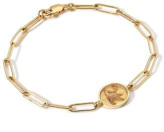 Retrouvaí Swan Fantasy Signet Link Bracelet - Yellow Gold