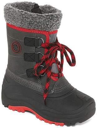 totes Little Kid/Big Kid Boys Derick Water Resistant Snow Boots Lace-up