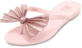 Mini Melissa Scented Glittered Rubber Flip Flops