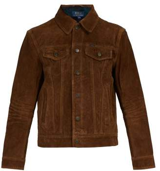 Polo Ralph Lauren Flannel Lined Suede Jacket - Mens - Brown