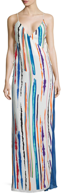 Emilio PucciSilk Print Wrapped Maxi Dress