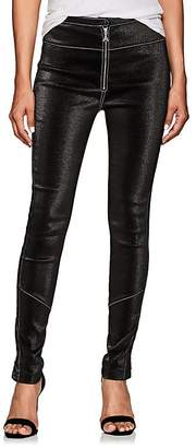 Area Women's Esme Stretch-Lamé Zip-Front Leggings