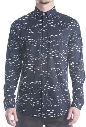 No Retreat Men's Long Sleeve Button-Up Shirt
