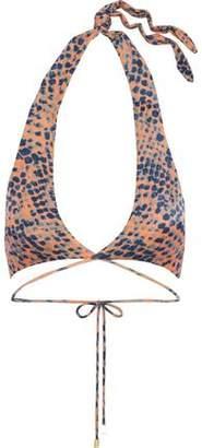 Vix Paula Hermanny Printed Halterneck Wrap Bikini Top