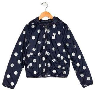 Ikks Girls' Printed Hooded Jacket