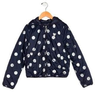 Ikks Girls' Printed Hooded Jacket