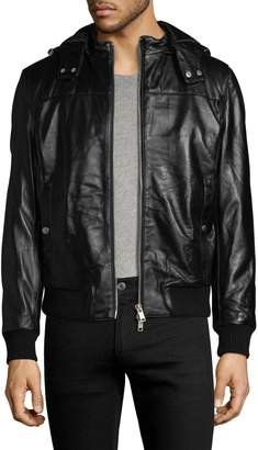 Slate & Stone Men's Solid Leather Jacket