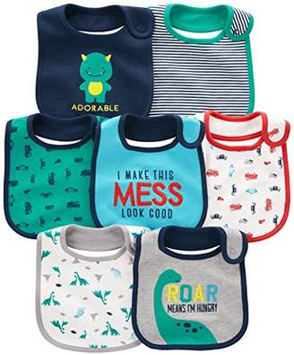 Carter's Simple Joys by Baby Boy's 7-Pack Teething Bib