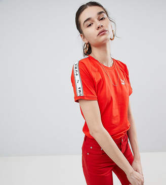 Puma Exclusive To Asos T-Shirt With Taped Side Stripe In Red