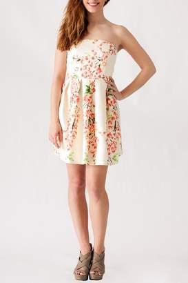 Ya Los Angeles Textured Floral Dress