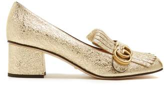 Gucci Marmont fringed leather loafers