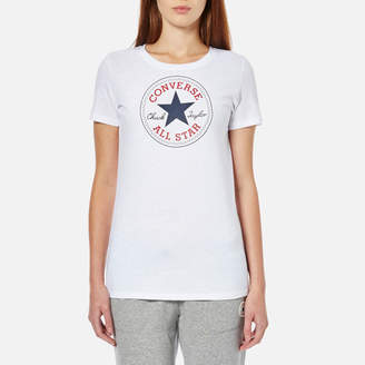 Converse Women's Chuck Patch Crew T-Shirt White