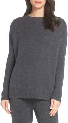 Something Navy Cashmere & Silk Crewneck Pullover