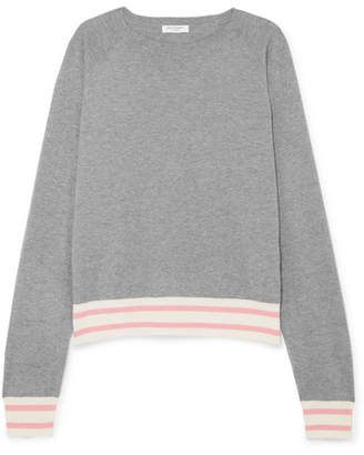 Equipment Axel Striped Cotton-blend Sweater - Gray