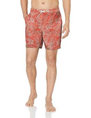 """28 Palms Men's 7"""" Inseam Cotton Nylon Swim Board Short"""