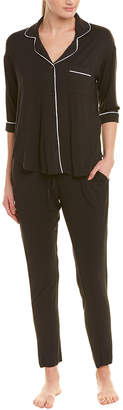 Donna Karan 2Pc Pajama Pant Set