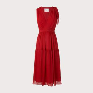 LK Bennett Abigail Red Silk Dress