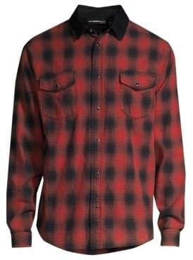 The Kooples Plaid Long Sleeve Shirt