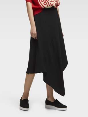 DKNY Flowy Asymmetrical Hem Skirt