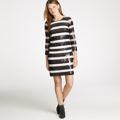 Jules dress in sequin stripe