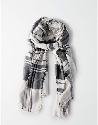 American Eagle Lightweight Two Color Plaid Scarf