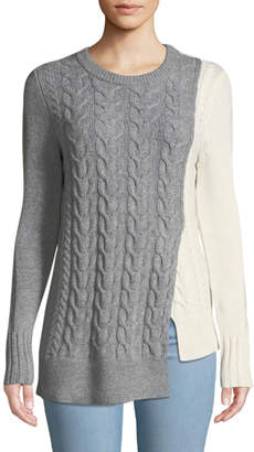 Marled By Reunited Asymmetric Cable-Knit Sweater
