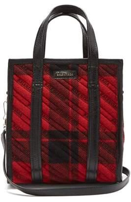 Balenciaga Bazar Shopper Xs - Womens - Black Red