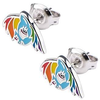 My Little Pony Hasbro Jewelry Rainbow Dash Women's 925 Sterling Stud Earrings