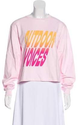 Outdoor Voices Graphic Print Long Sleeve Top w/ Tags